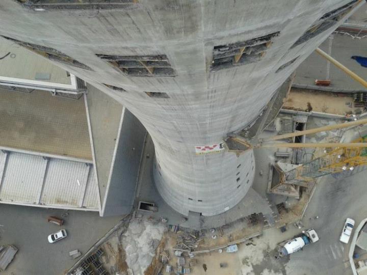 slipformed tower